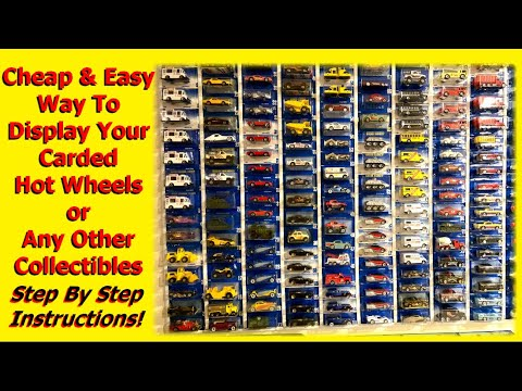 Easy way to Display Your Carded Hot Wheels and other Collectibles!