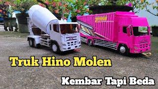 Truk Hino Molen Gak sengaja Ketemu Truk Hino Ghina versi miniatur truk kardus