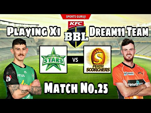 Melbourne Stars vs Perth Scorchers, BBL08 Match No.25, Match Preview, Playing Xi and Dream11 Team