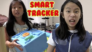 Pretend Play Police use Smart Tracking Device to Find the Safe