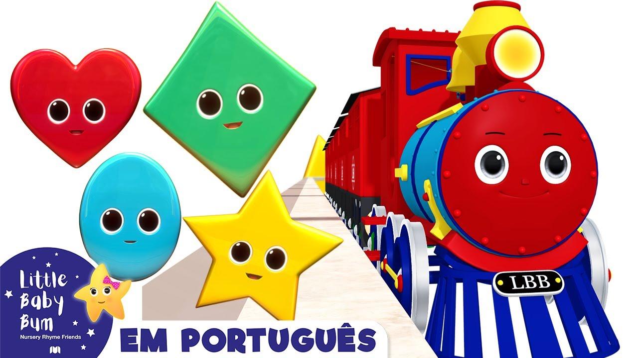 Trem das Formas |  Desenhos Animados | Little Baby Bum | Vídeos de aprendizagem para crianças