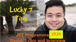 FOR FILIPINOS - LUCKY TIPS FOR YOU | Demo. Exam. Interview. | JET PROGRAMME 2019 | SPECIAL VLOG # 3
