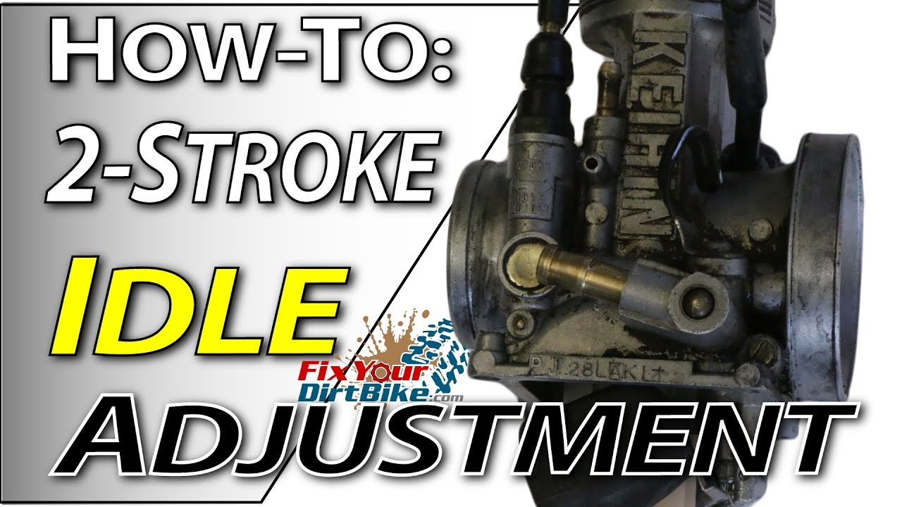 2Stroke Carb Tuning  Idle Adjustment | Fix Your Dirt Bike  YouTube