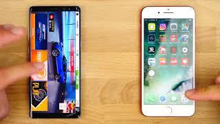 Samsung Galaxy Note 8 vs iPhone 7 Plus Speed Test!