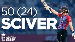 Sciver Smashes Fastest EVER Innings 50 OFF 24 BALLS England vs India 2021