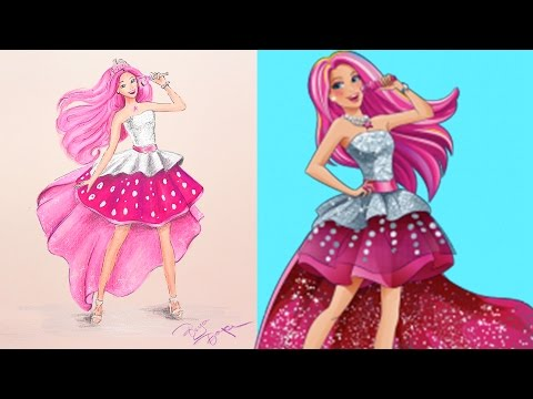 Barbie Rock Star Picture Drawing Painting Coloring | Boyaboya