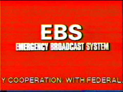 Emergency Broadcasting System early 1980's Los Angeles