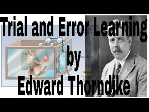 Trial and error learning by Edward Thorndike