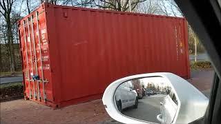 Container mit Feuerwerk bei Lidl am 10.12.18