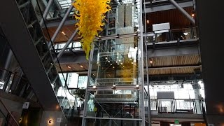 BEAUTIFUL Schindler 330A Hydraulic Glass Elevator @ Shops at Elements Apartments, Bellevue, WA