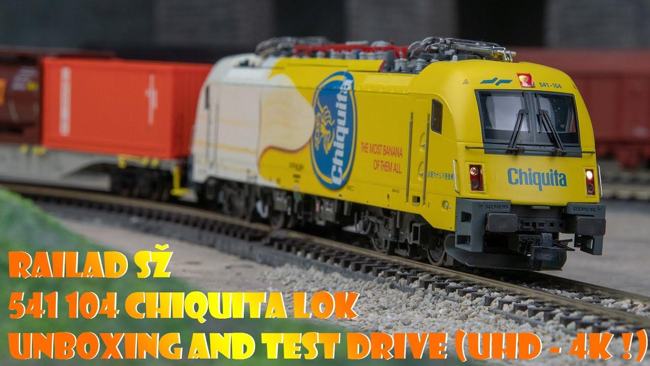 RailAd sž 541 104 CHIQUITA Lok UNBOXING AND TEST DRIVE (UHD - 4K !)