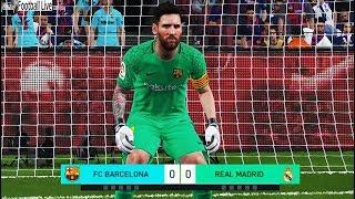 PES 2018 | goalkeeper MESSI vs goalkeeper RONALDO | Penalty Shootout | Barcelona vs Real Madrid