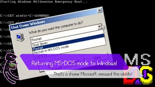 Getting MS-DOS mode back in Windows Millennium!