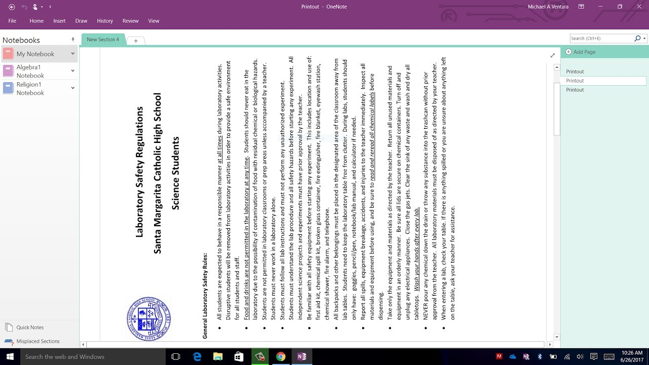 Office365 - (ONENOTE) How to Fix Wrong Printout Direction