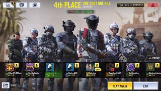 Playing call duty Mobile one shot