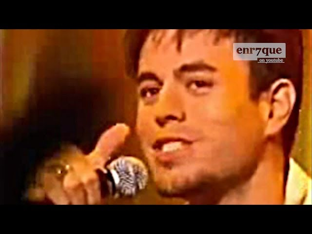 Enrique Iglesias - Maybe (LIVE PROMO in UK 2002)