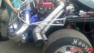 Tsunami (Opel Calibra) front engine 1st start by Mickey Garage