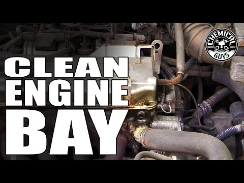 How To Clean Engine Bay - AllClean+ All Purpose Super Cleaner - Chemical Guys HEMI CHARGER