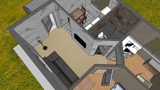 маленький / мини дом. Одноэтажный домик для постоянного проживания. Честная стройка
