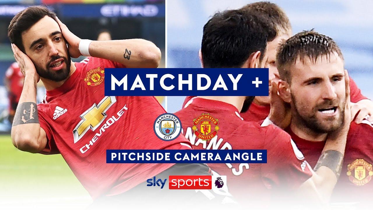Fernandes & Shaw halt City's unbeaten run 😱| Pitchside Camera | Man City 0-2 Man United | Matchday +