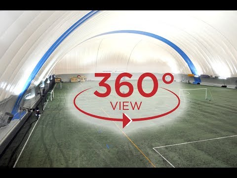 Turku, Finland, 115x70x19m covered football filed,  recorded in 360 view.