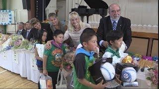 境町の小学校でアルゼンチンと交流イベント