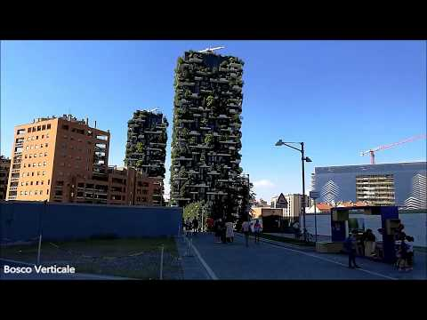 Bosco Verticale, Piazza Gae Aulenti, UniCredit Pavilion, UniCredit Tower Milan Italy