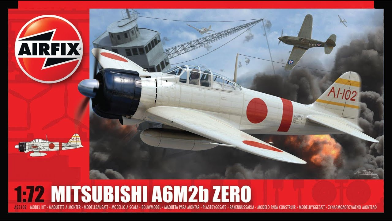 Airfix 1:72 Mitsubishi A6M2B Zero Starter Set A68204