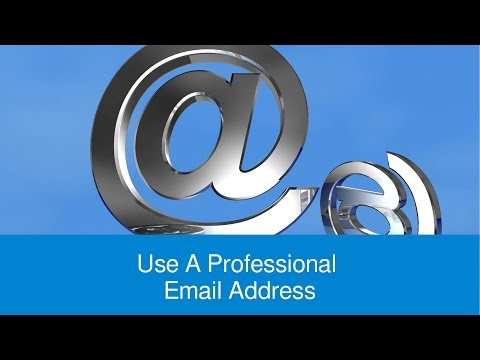 Use A Professional Email Address For Job Applications - FindMyDreamJob.co.uk