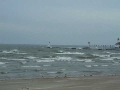 Lake Michigan By Silver Beach In St Joseph Mi Waves And Pier