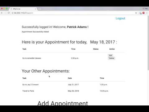 Django Appointments Demo walkthrough