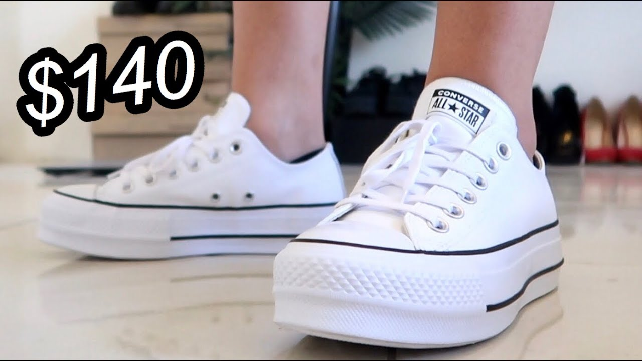 lika halpaa kuumia tuotteita hyvä Converse Ox Leather Platform Shoe Review (Optical White)