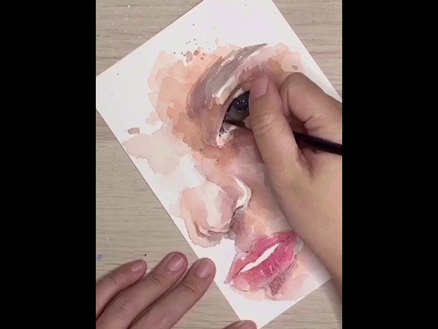 Watercolor Process - Expressive Eyes by Zoe Wu