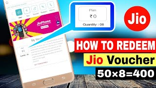 How to Redeem Jio 50 Rupees Cashback voucher !!!