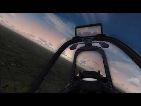A2A Simulations Spitfire at dawn, Duxford