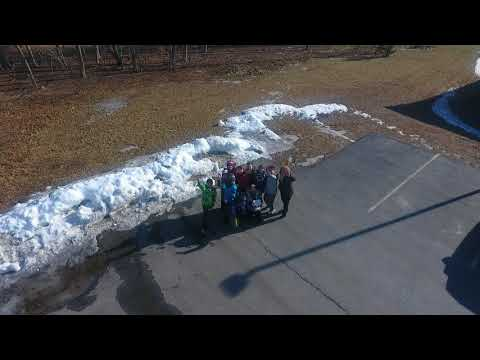 Hampton Academy Middle School Computer Class students learning about Drones and the Building Project