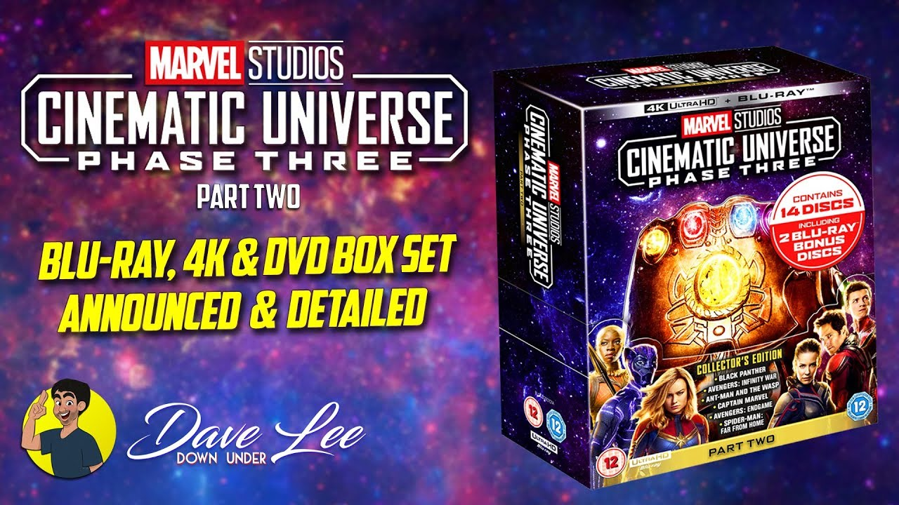 MARVEL CINEMATIC UNIVERSE PHASE 3, PART 2 - Blu-ray, 4K, DVD Box Set  Announced & Detailed