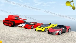 How many cars can a tank shoot through (sport cars destruction) BeamNG drive