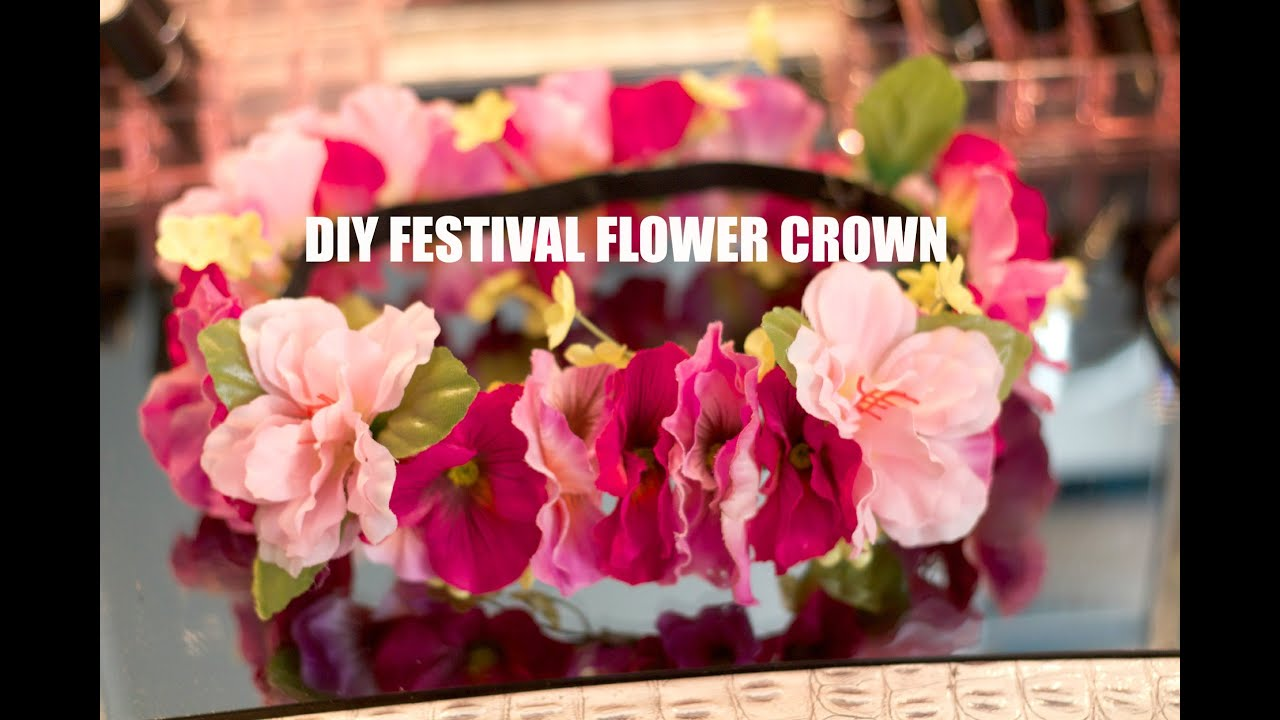Diy music festival flower crown coachella ideas youtube diy music festival flower crown coachella ideas izmirmasajfo
