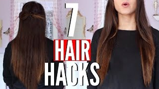 7 Hair Hacks EVERY GIRL Should KNOW |  HOW TO Grow Your Hair FAST !