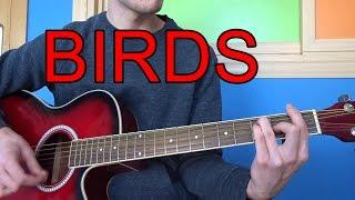 Como tocar Coldplay - Birds en GUITARRA