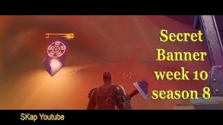 Fortnite - Secret Battle Star / Banner Season 8 Week 10 LOCATION
