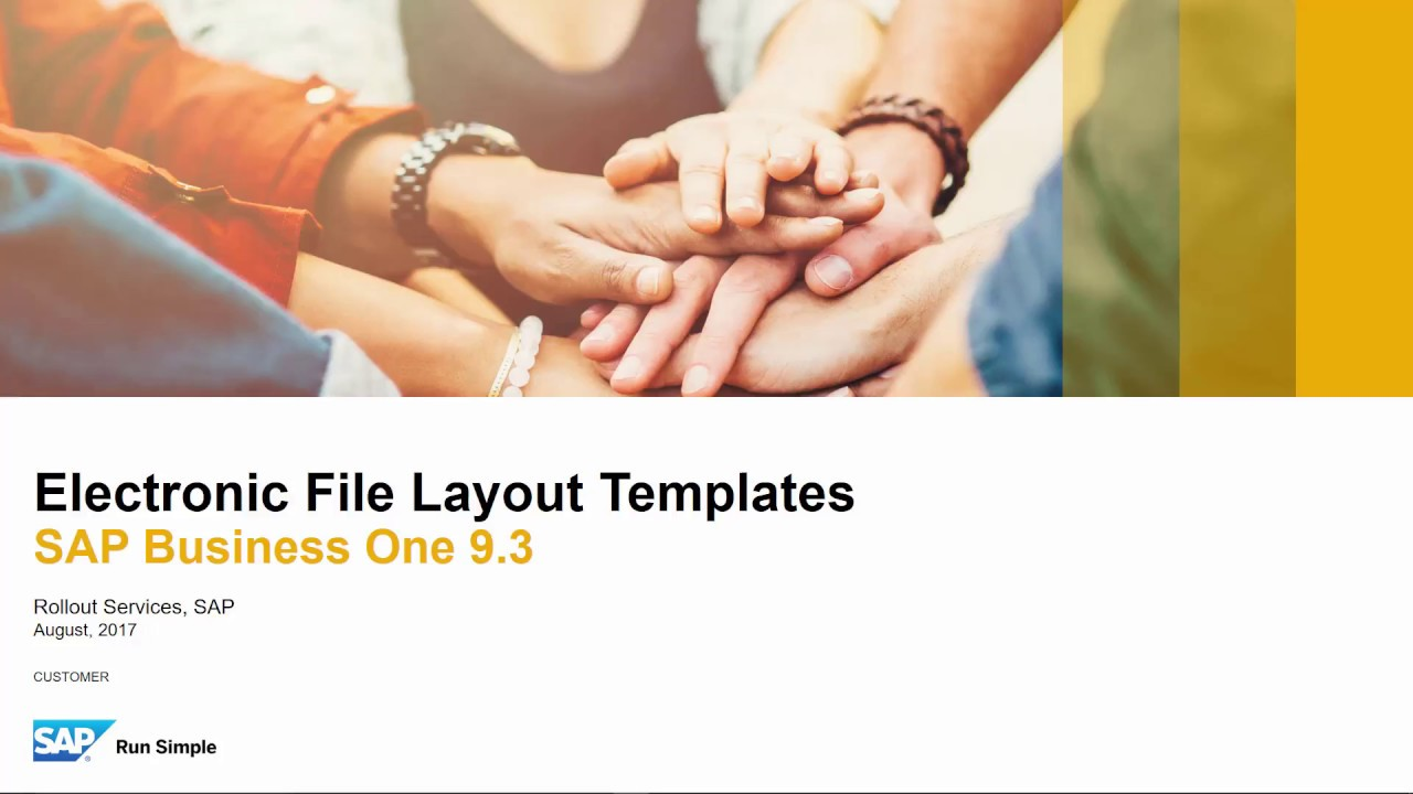 SAP Business One 9 3 - Electronic File Templates