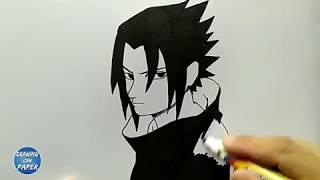 Very Easy!! How to Draw Little Sasuke - Drawing doodle art for kids