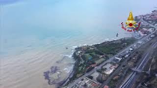 Alluvione Livorno  riprese aeree