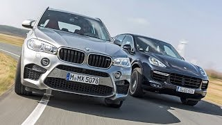 Monster-Duell - BMW X5 M vs. Porsche Cayenne Turbo (2015)