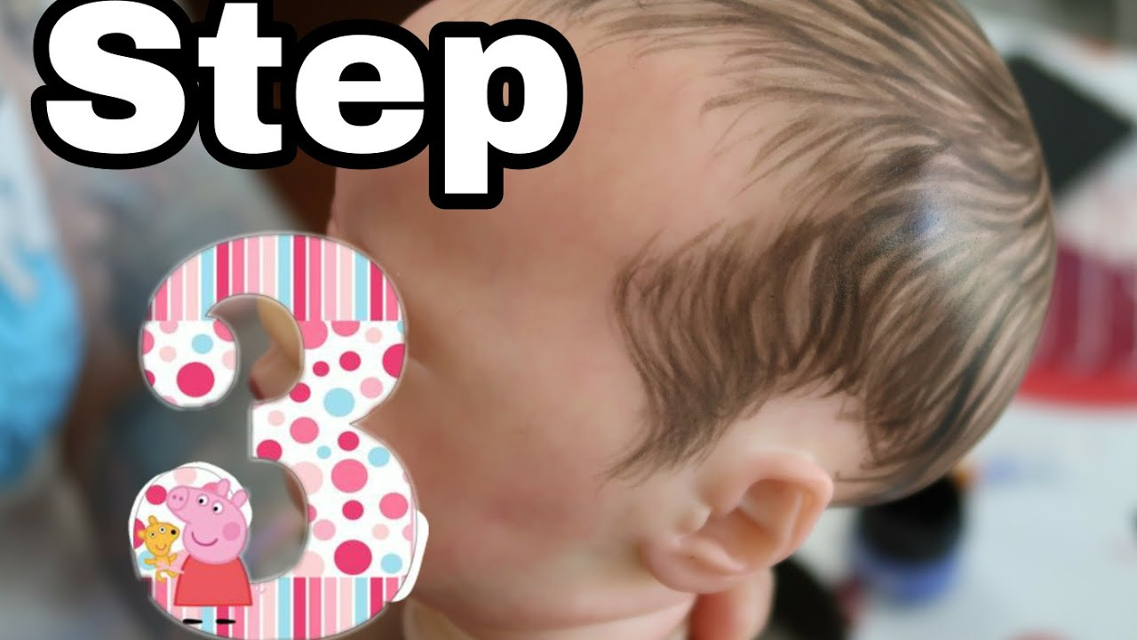 How i paint hair on reborn doll (1 of 2) not a tutorial.