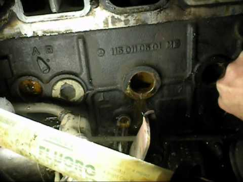 Flushing a engine block