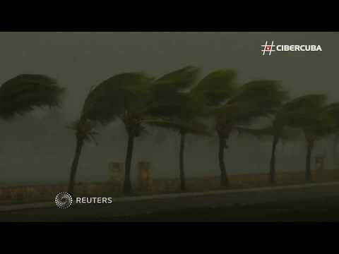 Primeras imágenes del huracán Irma en Caibarién, Villa Clara
