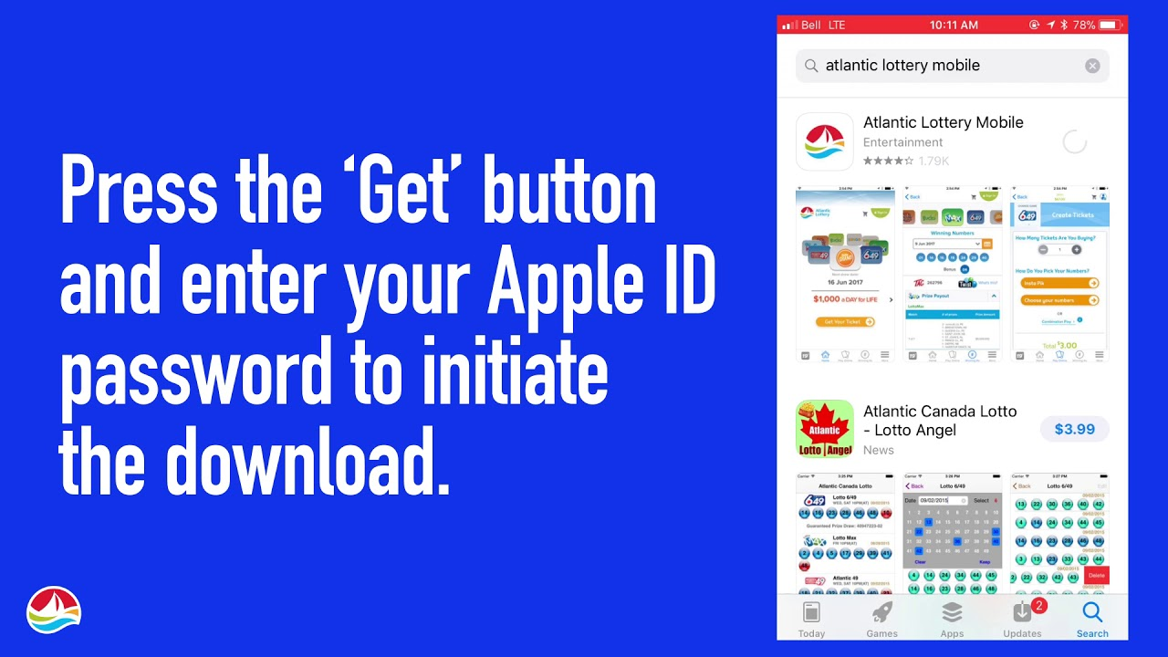 How to Download the Atlantic Lottery Mobile App (iOS)